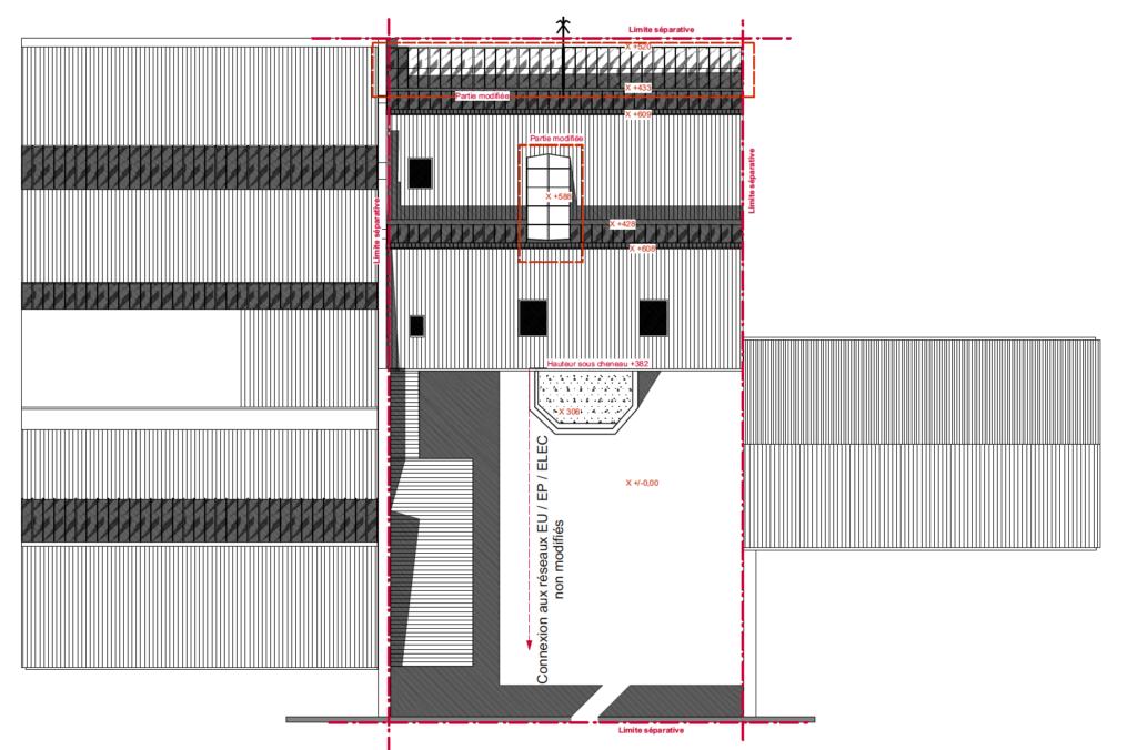 plan toiture projetée